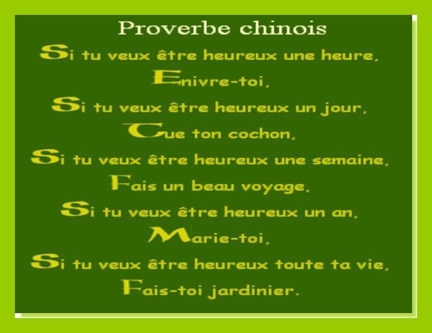 Humoristique Proverbe Chinois Anniversaire.Proverbe Chinois